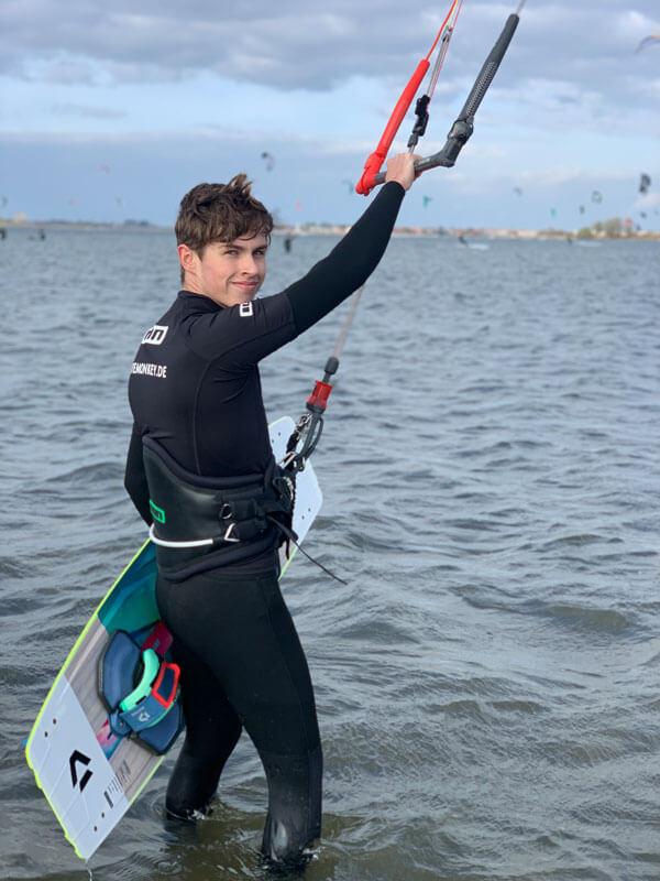 Auffrischungskurs Kitesurfen lernen Fehmarn Ostsee
