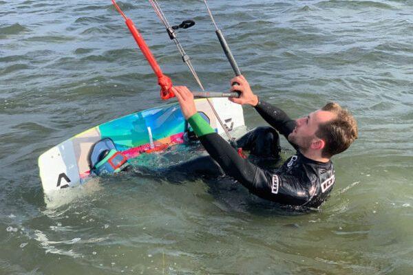 Anfänger Kitesurfkurs Fehmarn Kitesurfen lernen Kiteboarding Gold Gollendorf